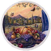 Admirals Harvest Round Beach Towel