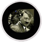 Adolf Hitler And A Feathered Friend C.1941-2008 Round Beach Towel by David Lee Guss