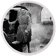 Adolf Hitler Shortly After His Release From Prison 1924 1924-2012 Round Beach Towel
