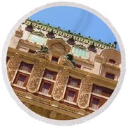 Round Beach Towel featuring the photograph Adolphus Hotel - Dallas #1 by Robert ONeil