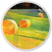 Advance Mills Hall Bales Round Beach Towel