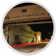 Aeneas Overpass On Cannery Row Round Beach Towel