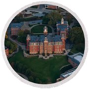 Aerial Of Woodburn Hall Round Beach Towel