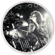 Aerosmith-steven-25 Round Beach Towel by Timothy Bischoff