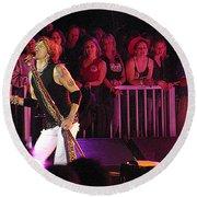 Aerosmith-steven Tyler-00074 Round Beach Towel