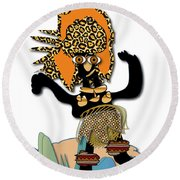 Round Beach Towel featuring the digital art African Dancer 6 by Marvin Blaine