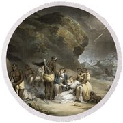 African Hospitality, Engraved By John Raphael Smith, 1791 Mezzotint Round Beach Towel