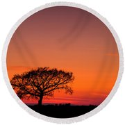 African Sunset Round Beach Towel by Davorin Mance