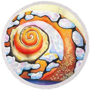 African Turbo Shell Round Beach Towel