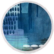 After Rain- Contemporary Abstract Painting  Round Beach Towel