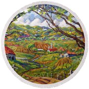 After The Rain By Prankearts Round Beach Towel