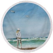 After The Storm Round Beach Towel