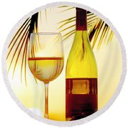 Afternoon Delight Round Beach Towel