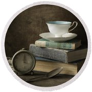 Afternoon Tea Round Beach Towel by Amy Weiss