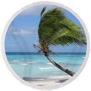 Against The Winds Round Beach Towel
