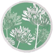Agapanthus Breeze Round Beach Towel