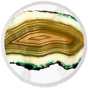 Agate 1 Round Beach Towel by Gina Dsgn