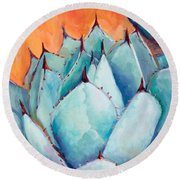 Agave 1 Round Beach Towel