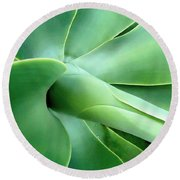 Agave Heart Round Beach Towel