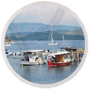 Agios Stefanos Round Beach Towel by George Katechis