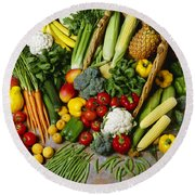 Agriculture - Mixed Fruit Round Beach Towel