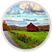Ah...west Virginia Painted Round Beach Towel