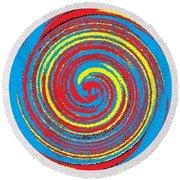 Round Beach Towel featuring the digital art Aimee Boo Swirled by Catherine Lott