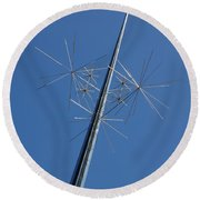 Air And Space Museum Art Spire Round Beach Towel