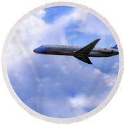 Air Force One - Mcdonnell Douglas - Dc-9 Round Beach Towel