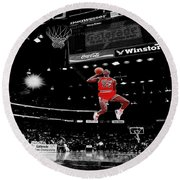 Air Jordan Round Beach Towel by Brian Reaves