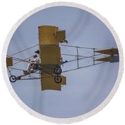 Air Show Yellow  Round Beach Towel by John McGraw