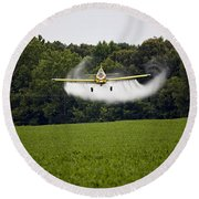 Air Tractor Round Beach Towel