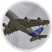 Airbus A380 Round Beach Towel by Maj Seda