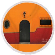 Ajijic Door No.4 Round Beach Towel
