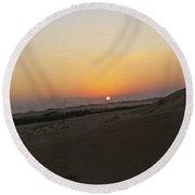 Al Ain Desert 20 Round Beach Towel