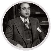 Al Capone - Scarface Round Beach Towel