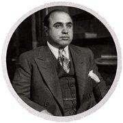 Al Capone - Scarface Round Beach Towel