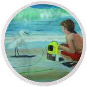 Al Round Beach Towel