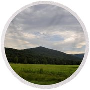 Alabama Mountains 2 Round Beach Towel