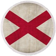 Alabama State Flag Round Beach Towel