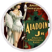 Aladdin Jr Amazon Round Beach Towel by Terry Reynoldson