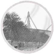 Alamo Dome Round Beach Towel