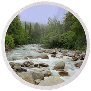 Alaska - Little Susitna River Round Beach Towel