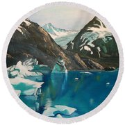 Alaska Reflections Round Beach Towel
