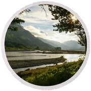 Alaskan Valley Round Beach Towel