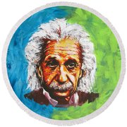 Albert Tribute Round Beach Towel