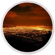 Albuquerque New Mexico  Round Beach Towel