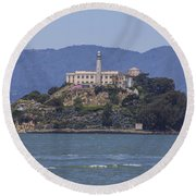 Alcatraz Island Round Beach Towel by John McGraw
