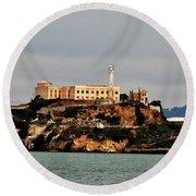 Alcatraz Island - The Rock Round Beach Towel