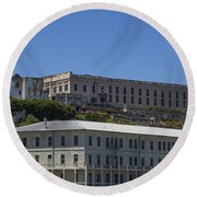 Alcatraz Prison Round Beach Towel by John McGraw